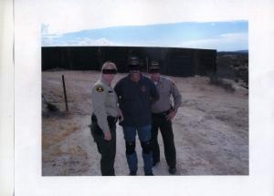 Showing the sheriffs around