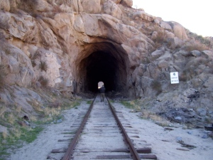 Train tunnel into to Mexico!