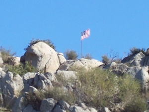 Flag from west of 241