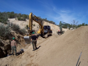 New drainage for west side of Smith Canyon
