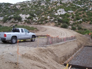 New Bridge at the bottom of Smith Canyon