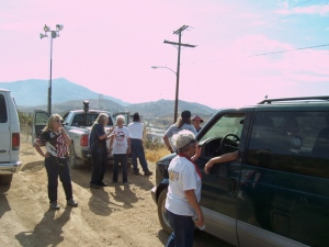 The tour says goodbye-They take the highway back, I take the border road