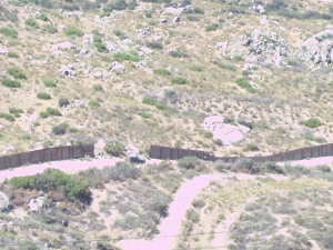 Gaps in the fence as viewed from Zuellner's high point