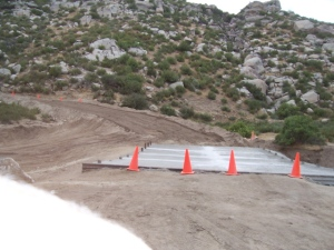New Bridge in Smith Canyon gets poured