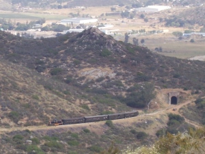 That tunnel is in Mexico, the train is heading for the tunnel we just left
