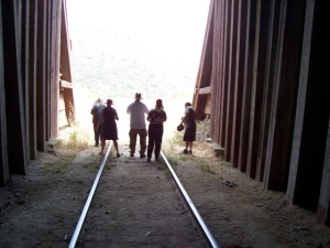 The tour group becomes illegal aliens