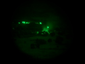 House fire by Ranchita in Mexico-through night vision