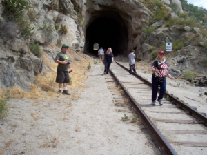 Tecate tour at the unguarded tunnel