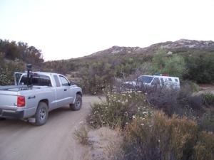 Guarding BP truck early morning 4JUL08