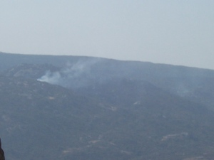 Fire southwest of Campo-started by an illegal's cigarette