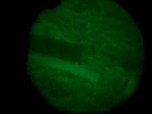 End of fence by 5 Star w/ATN night vision