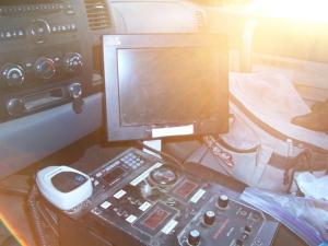 Inside BP scope truck