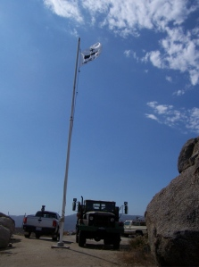 Gonzalez flag at the point