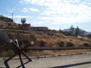 "The old ""fence"" east of Tecate"