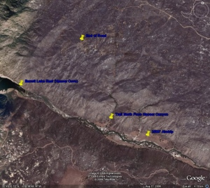 Hauser Canyon Map