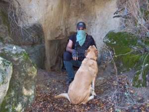 C1 and HotShot by cave in Smith Canyon