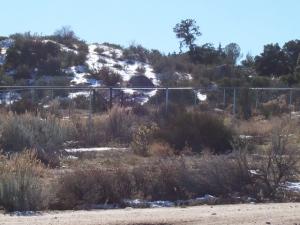 Snow on the ground in Boulevard, CA-21DEC08