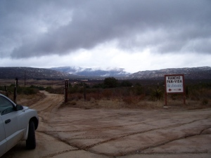 The road to Hauser Canyon