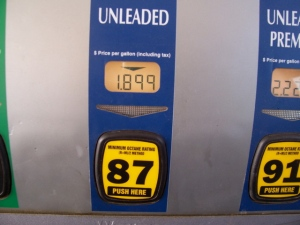 Gas Price is a little better than it was in June!