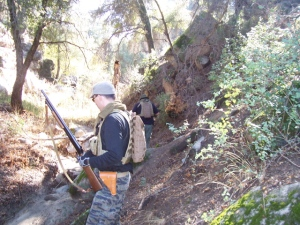 Red Army and Golf 1 lead the way into Smith Canyon