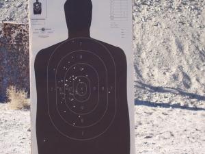 My .45ACP target