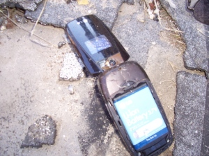 Mexican cell phone found by Red Army-soon to be turned over to BP