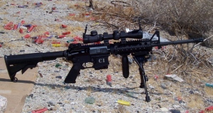 M4 w/long eye relief scope and bipod