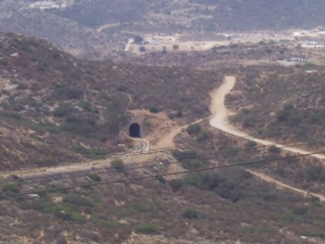 Mexican tunnel with gate open