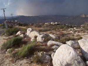 Sand storm comin' ahead of the rain