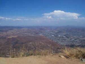Looking east from the top of Tecate Peak