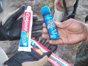 Fresh toiletries found on the trail