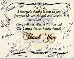 Campo BP Thank you card
