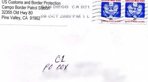 Campo Thanks envelope