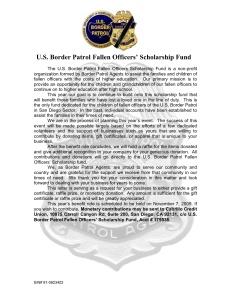 Fallen Agents Scholarship Fund