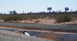 On the border in San Luis, AZ