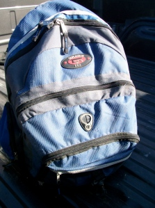 Backpack found in a abandoned vehicle