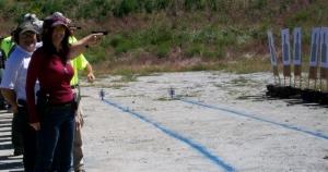 Chelene on the firing line