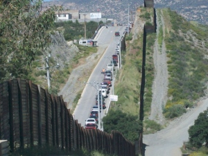 Traffic Jam-workers leaving Mexico