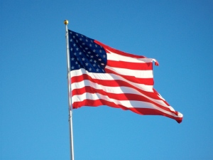 Long may she wave over the land of the free and the home of the brave