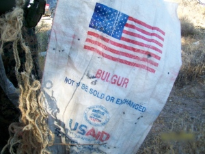 US food aid bags used to smuggle dope