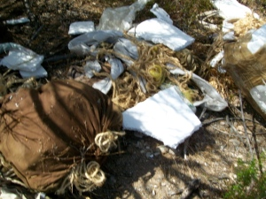 more drug debris