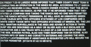 Laredo PD computer screen