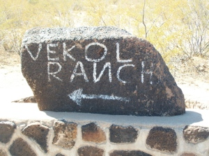 Vekol Ranch sign