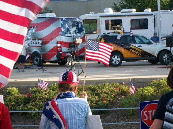 Flag waving :speakers