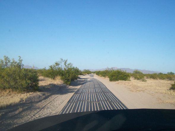Landing mat road